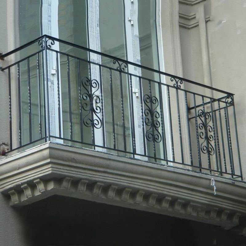 Unique Rod Iron Balcony Railing