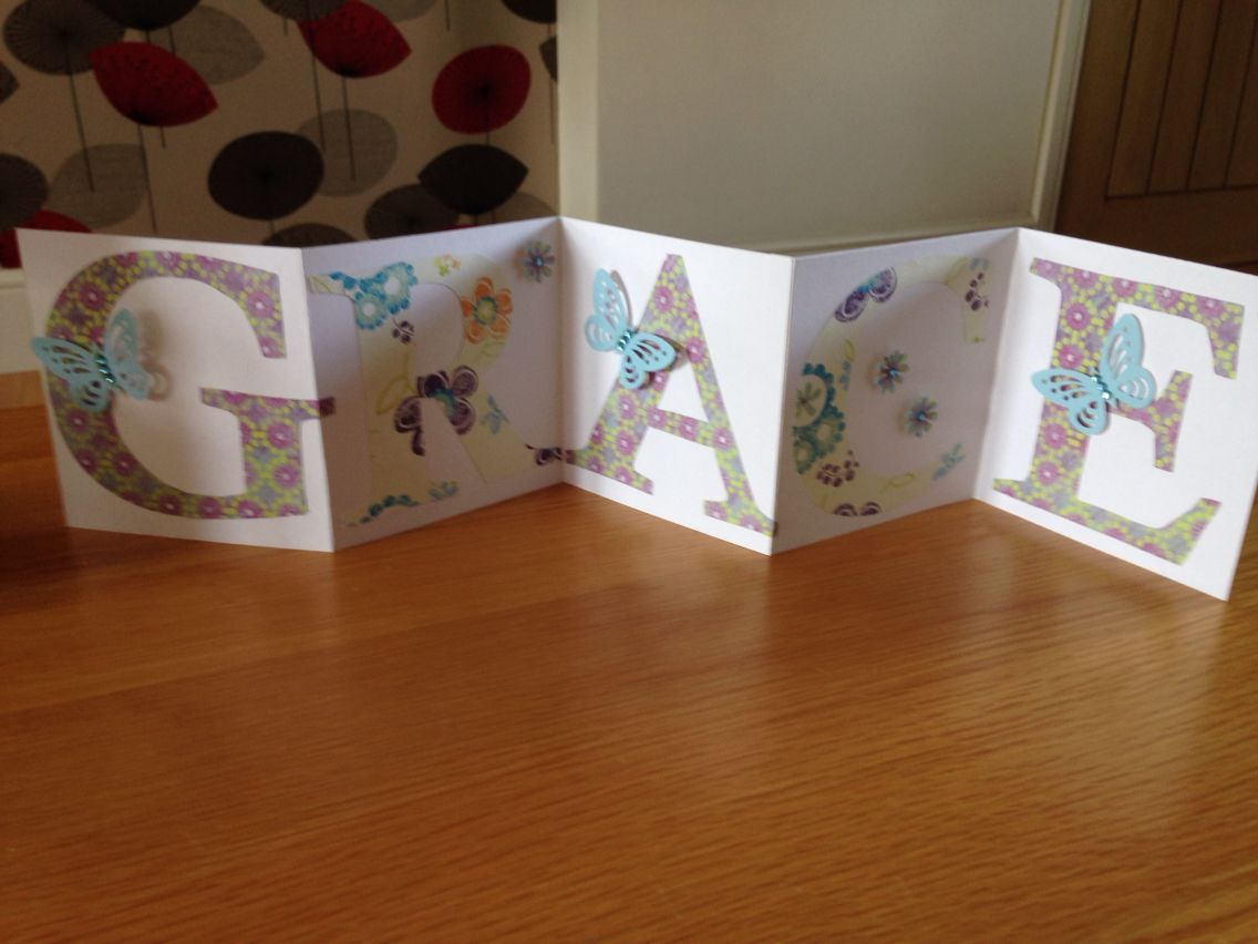 Personalised Birthday Card My Creations Pinterest Personalized