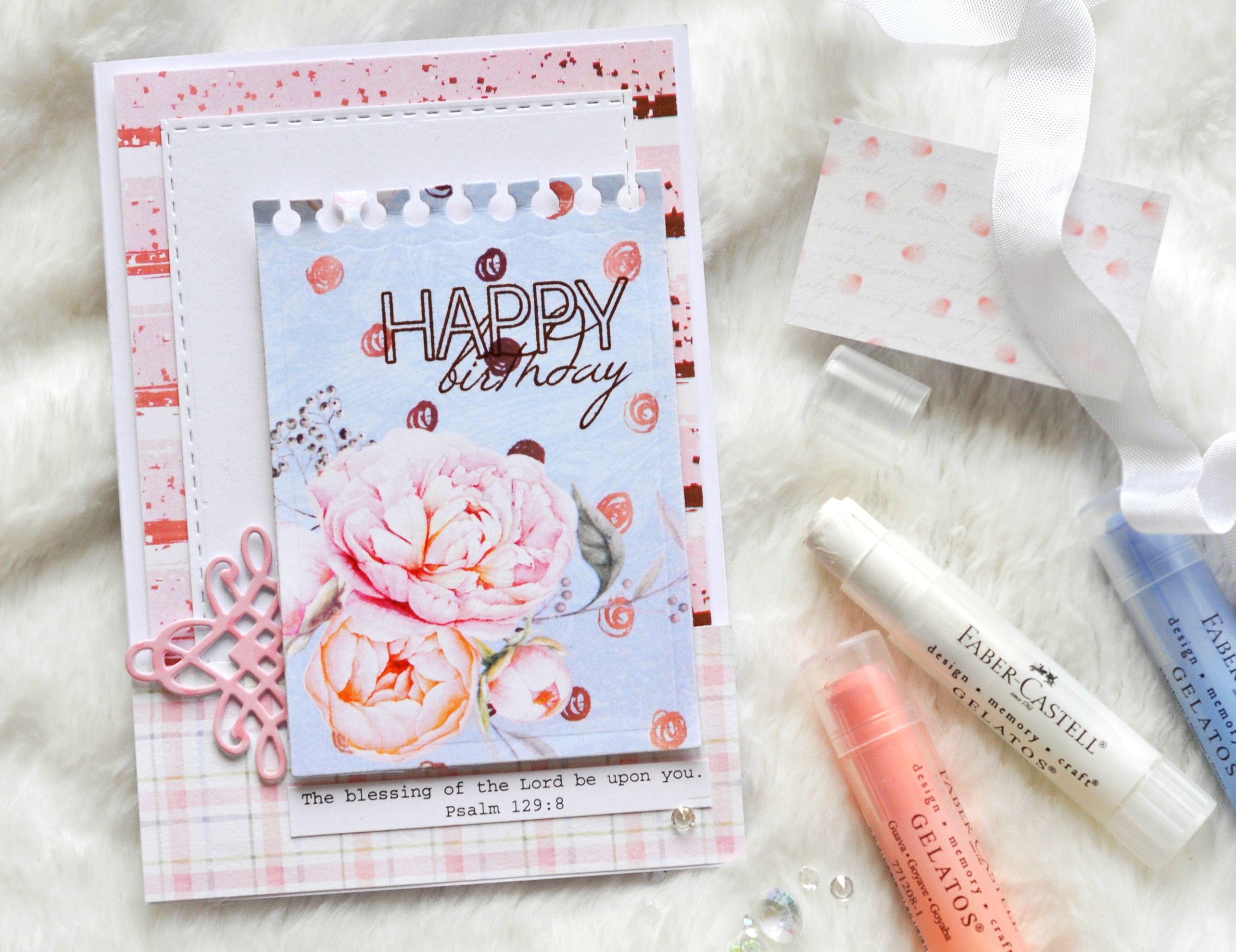Happy Birthday Christian Bible Verse Handmade Card By Pink Lion