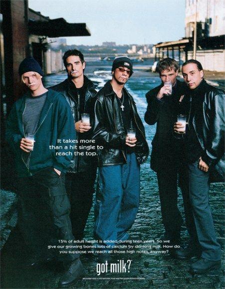 Got Milk Nick Carter Backstreet Boys Print Ad!
