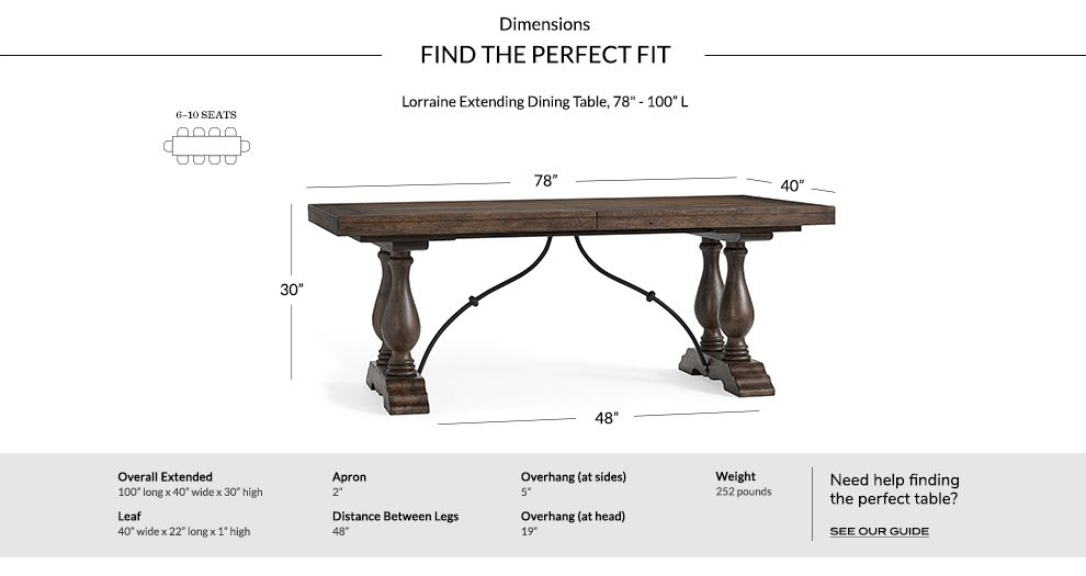 Lorraine Medium Extending Dining Table Rustic Brown At Pottery