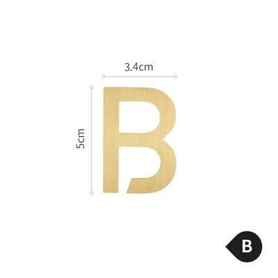 Photo of Brass Alphabet Letters – B