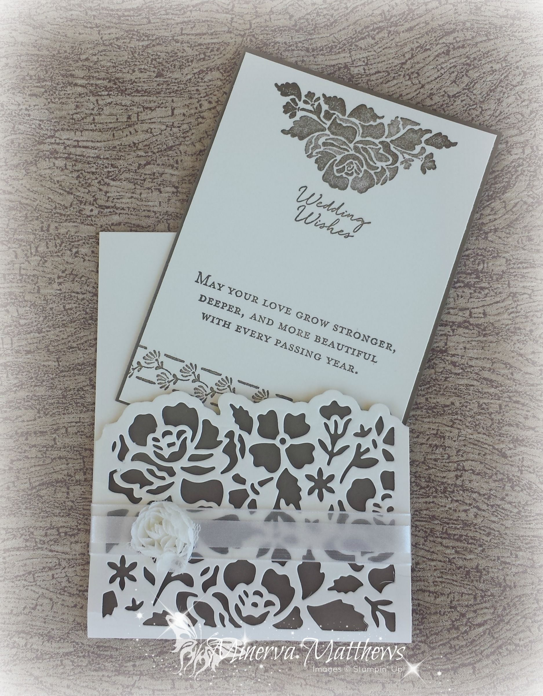 Wedding Cards Using Detailed Floral Thinlits And Floral Phrases