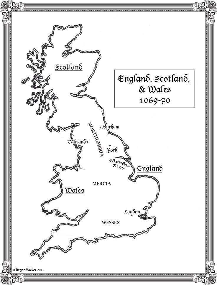 The map for Rogue Knight will be in the book showing England