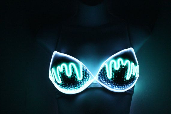 Light Up El Wire Bra with Rhinestones by OpalAura on Etsy, $70.00 so ...