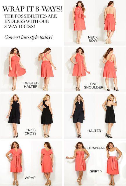 32c15d47be 8-Way Convertible Dress-Plus Size Convertible Dress-Avenue | save ...