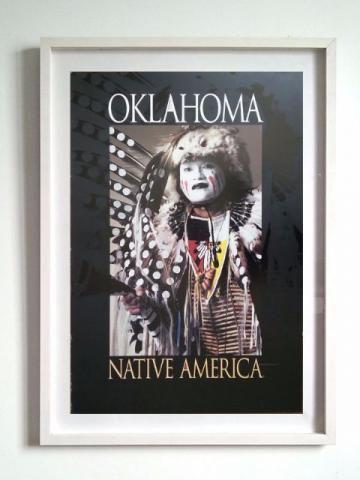 Quadro Oklahoma native america indian - USA - Decoração de ambiente