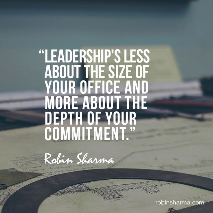 Leadership s less about the size of your office and more