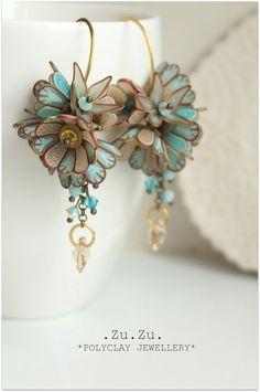 Polymer clay earrings by Zuzana Liptáková (Zu Zu on Flickr)