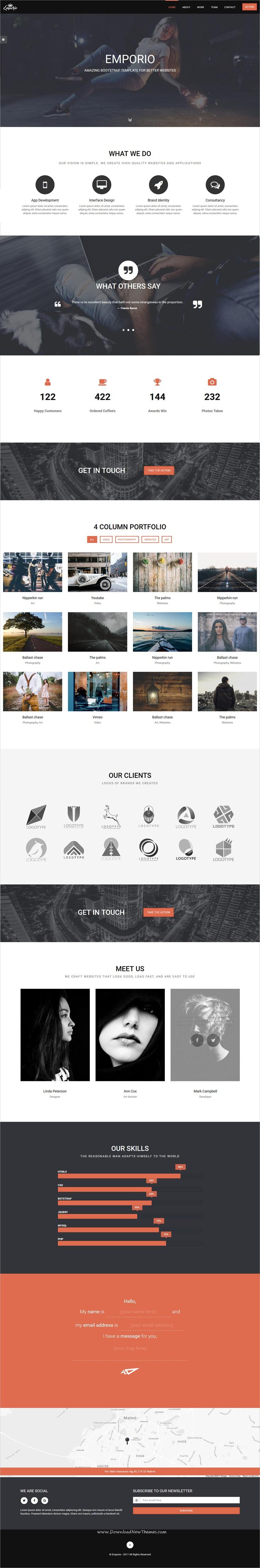 Emporio - Multipurpose One Page Template | Template and Portfolio ...