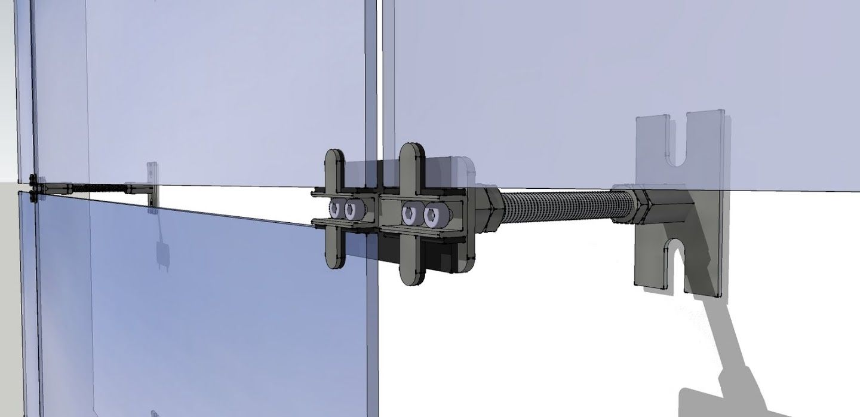 Omega Spider - ventiliuojamų stiklo fasadų sistema. 2007 m.