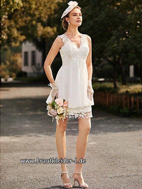 Kurzes Brautkleid Dietburg mit Applikationen im Brautkleider-Shop ...