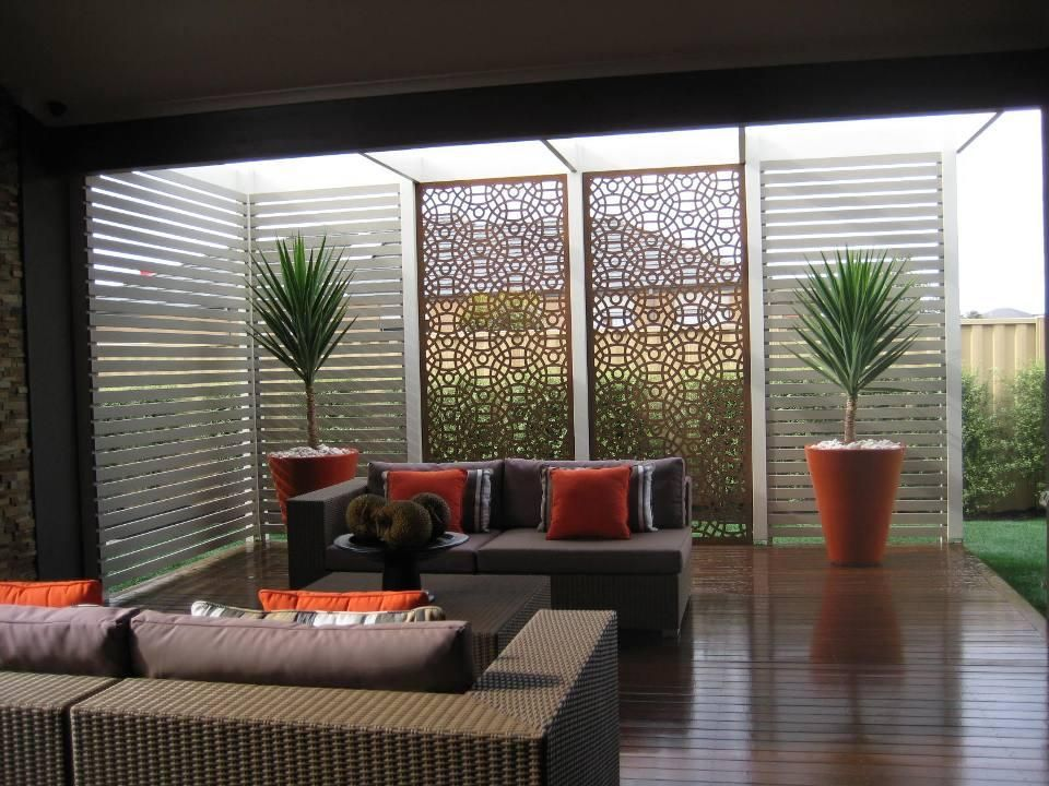 Warm colour scheme for the outdoor area get inspired by Screens for outdoor areas