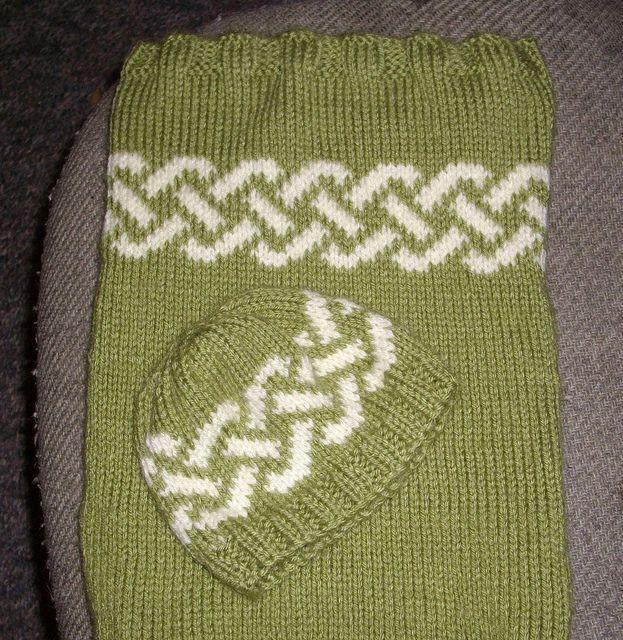 Celtic Knotwork Hat Free Pattern Newborn Knitting Pinterest
