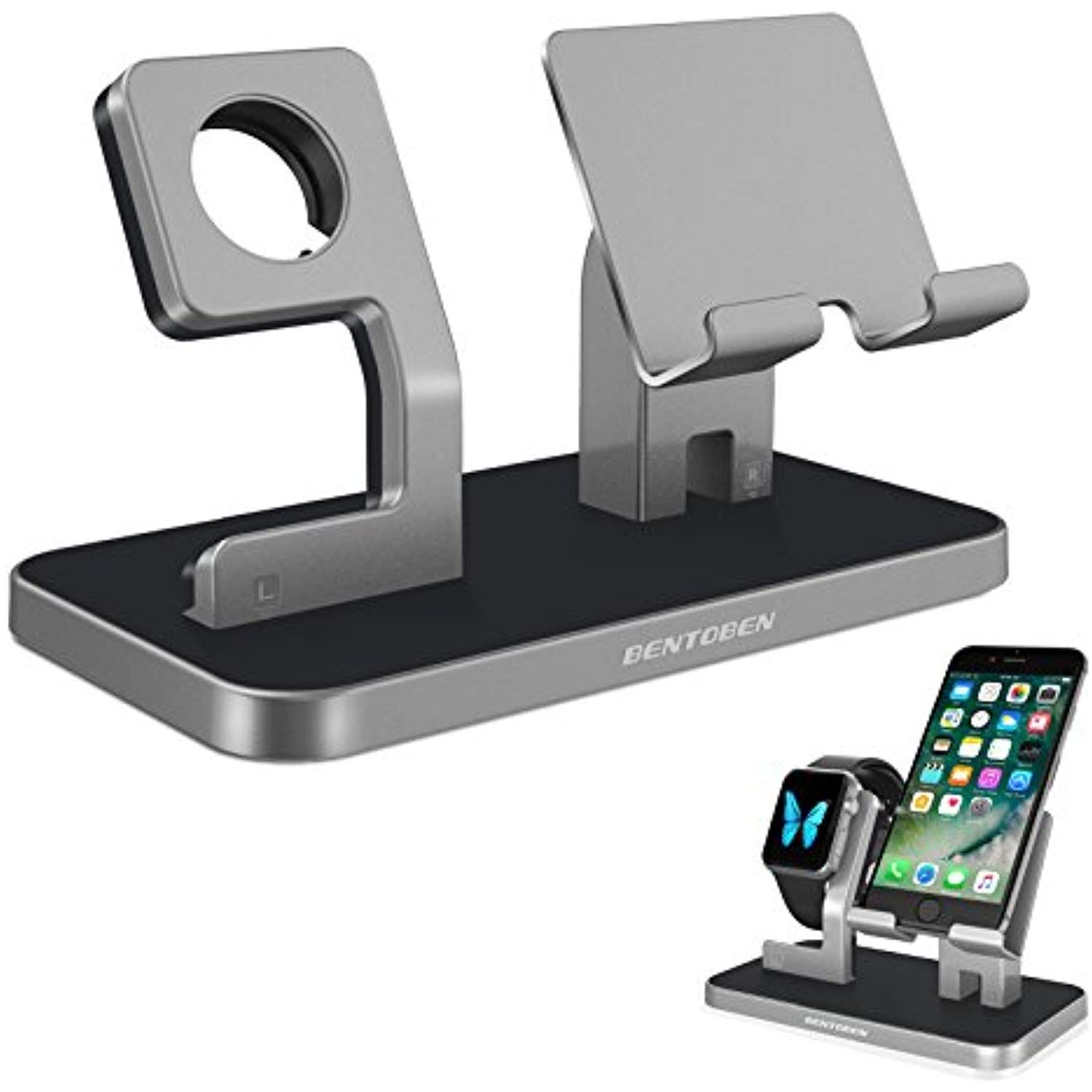finest selection 2961f 86b8e Apple Watch Stand, Cell Phone Stand, iPhone 6 7 8 X Stand, BENTOBEN ...