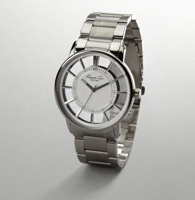 I want this watch! Silver Watch With Transparent Face - Kenneth Cole