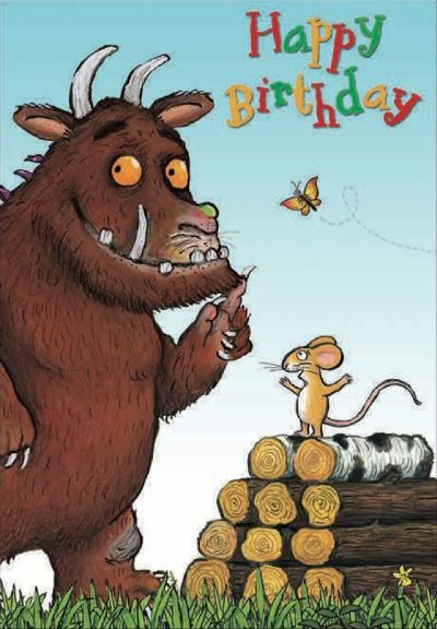 Woodmansterne Publications Ltd Kids Birthday Cards Happy B Day Images Gruffalo Party