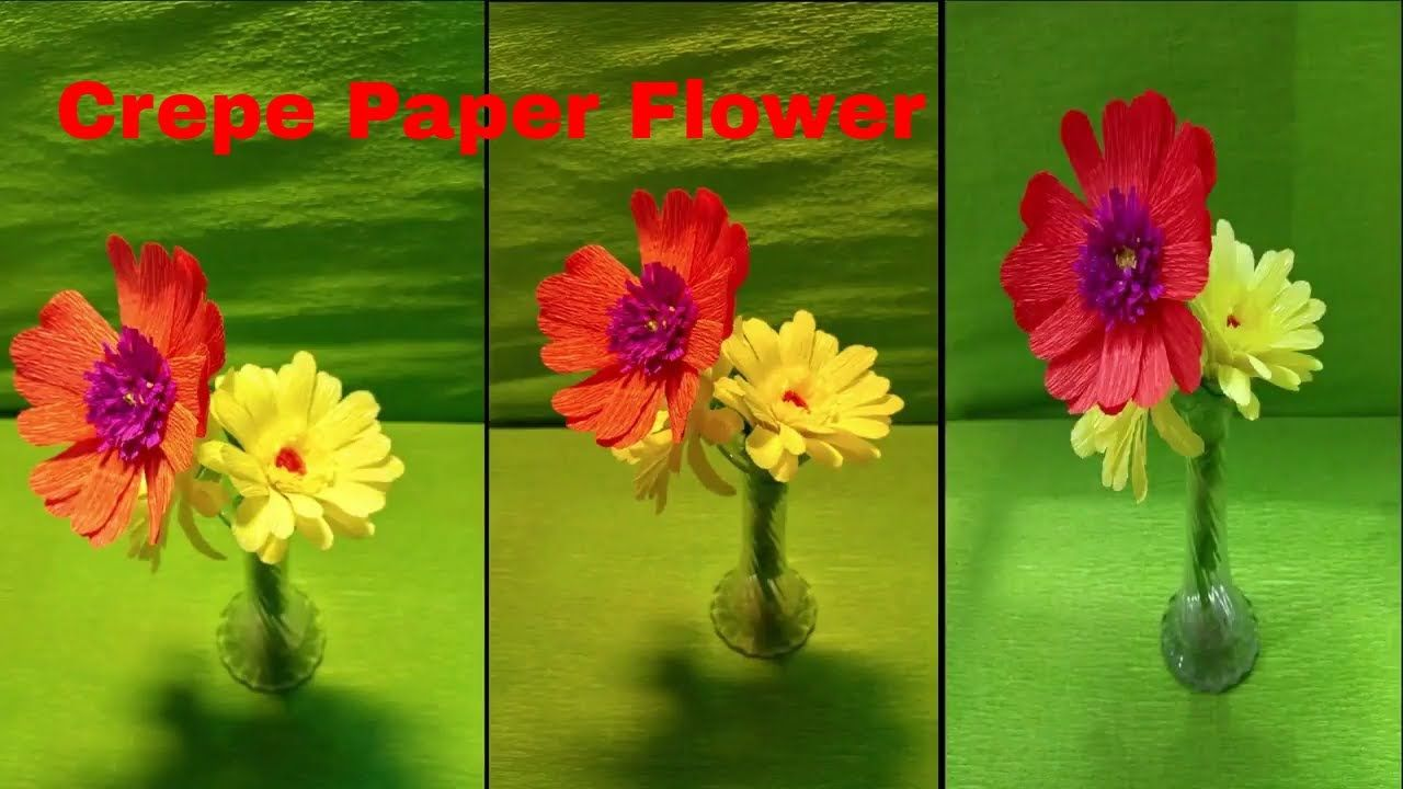 How To Make Crepe Paper Flower For Home Decoration Home Decor