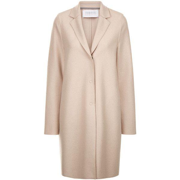Harris Wharf London Light Cream Wool Cocoon Coat (21.475 RUB ...