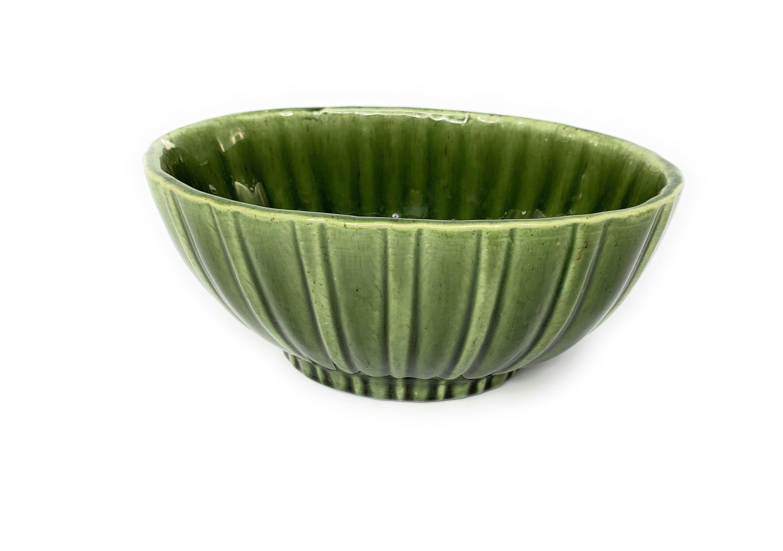 Green Planters Set of 2 Planters Vintage Haeger Pottery Planter Pots