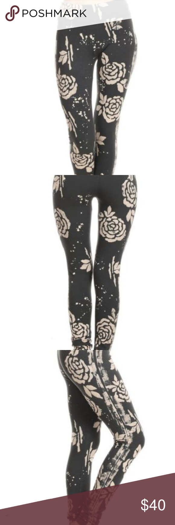 b9780c1a1258b Ladies FOLDED BAND LEGGINGS in Charcoal and Cream Ladies FOLDED BAND  LEGGINGS in Charcoal and Cream. ROSE BATIK FOLDED BAND LEGGINGS in Charcoal  and Cream ...