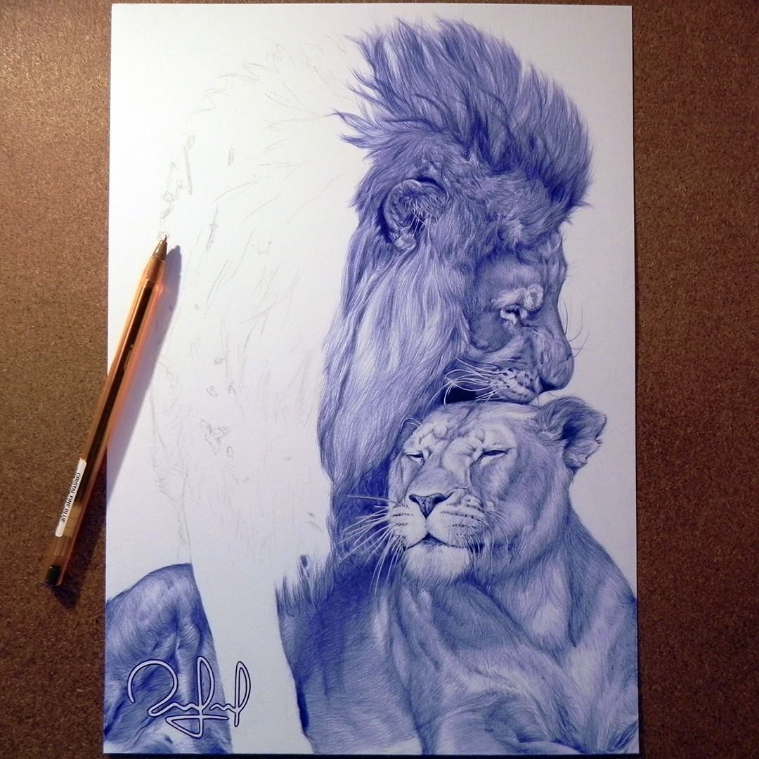 Rafael Augusto On Instagram Until Lions Have Their Own Historians Tales Of The Hunt Shall Always Glorify The Hunter S Amazing Drawings Art Lion Sculpture