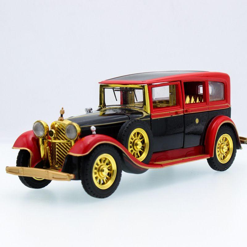 Click to Buy << Pull Back Alloy Toy Retro Vintage Car Door Open ...