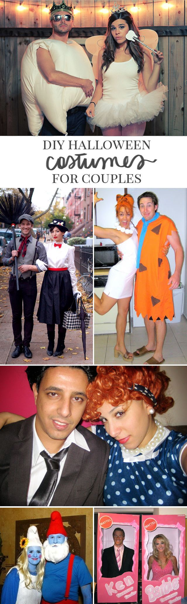 10 DIY Couples Halloween Costumes Couple halloween