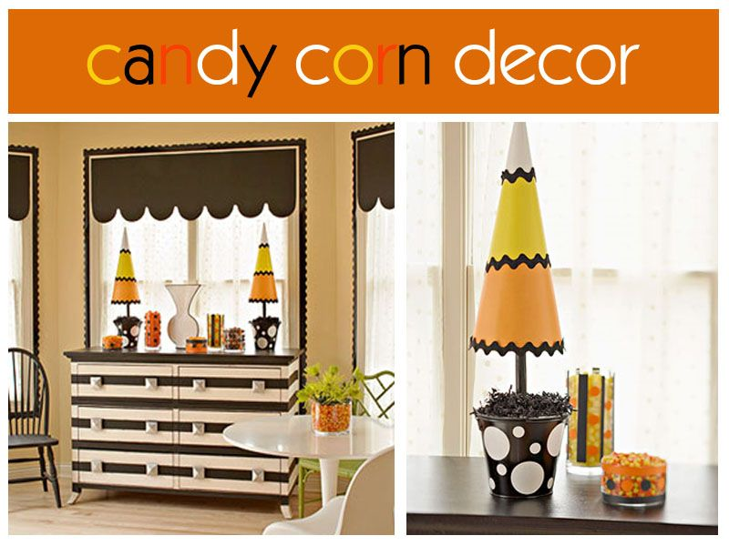Halloween Candy Corn Decorations Trick or treat!!!! Pinterest - halloween cute decorations