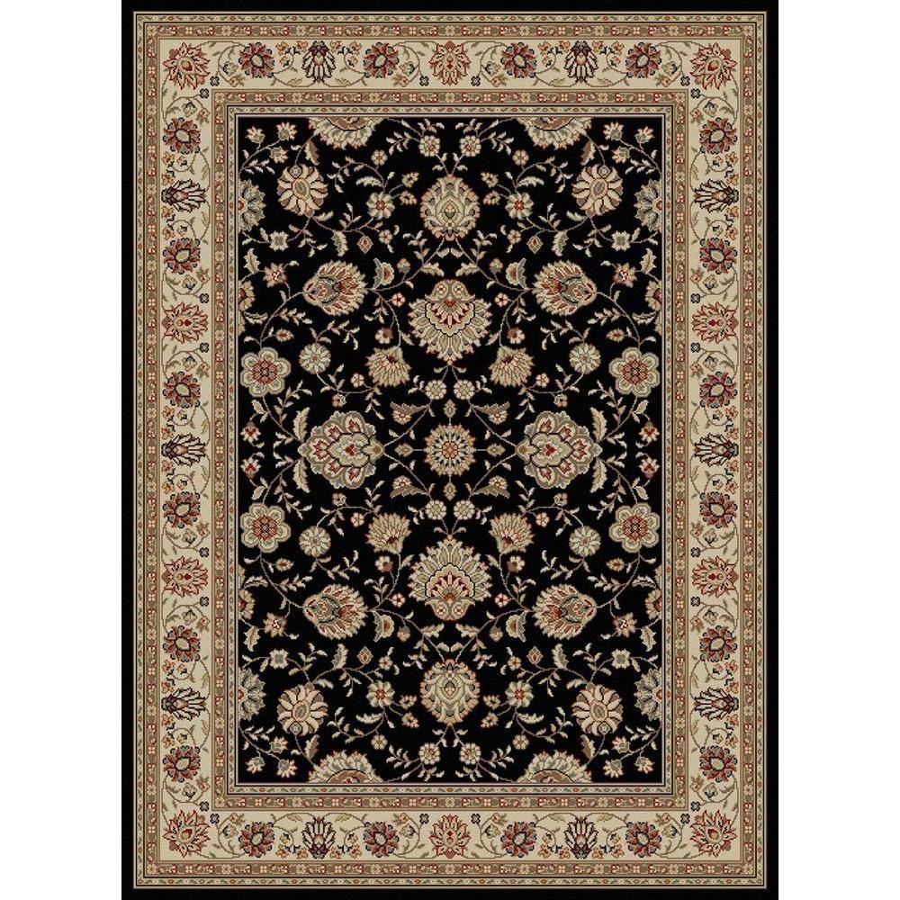 Tayse Rugs Elegance Black 8 Ft X 10 Ft Traditional Area Rug