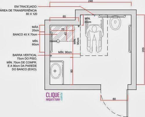 Suficiente Ariane Rosa Arquitetura: Banheiros Adaptados: como construir  DH29