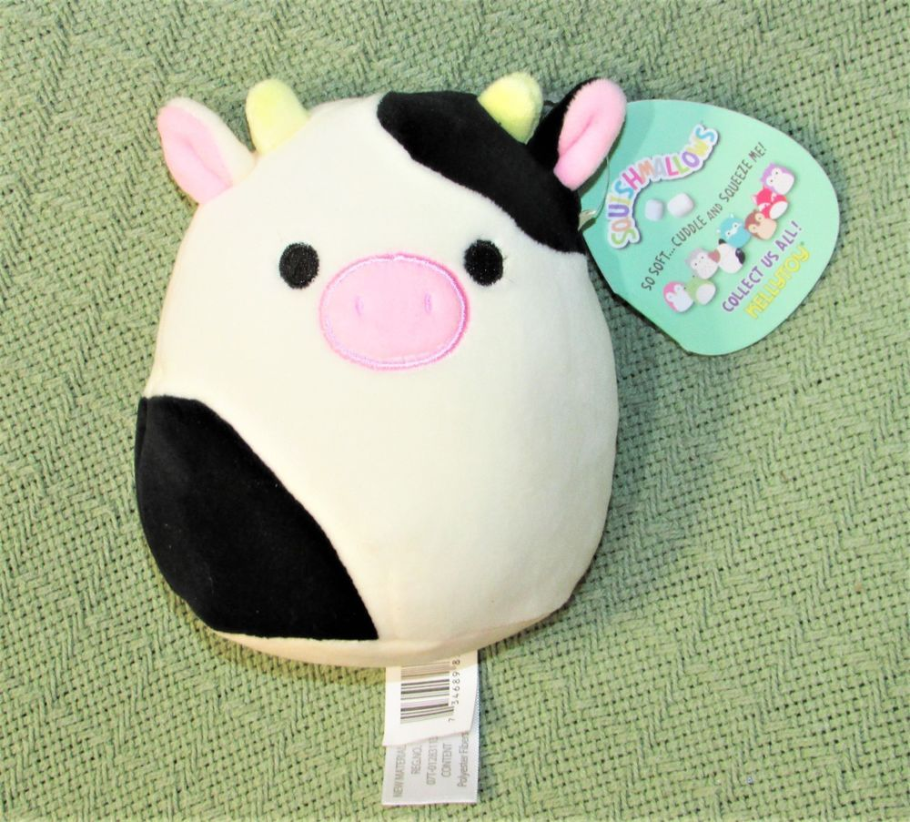 Squishmallows Conner Cow 6 Kellytoy Plush Stuffed Animal New With Tag Soft Toy Kellytoy Cute Stuffed Animals Cow Toys Plush Stuffed Animals