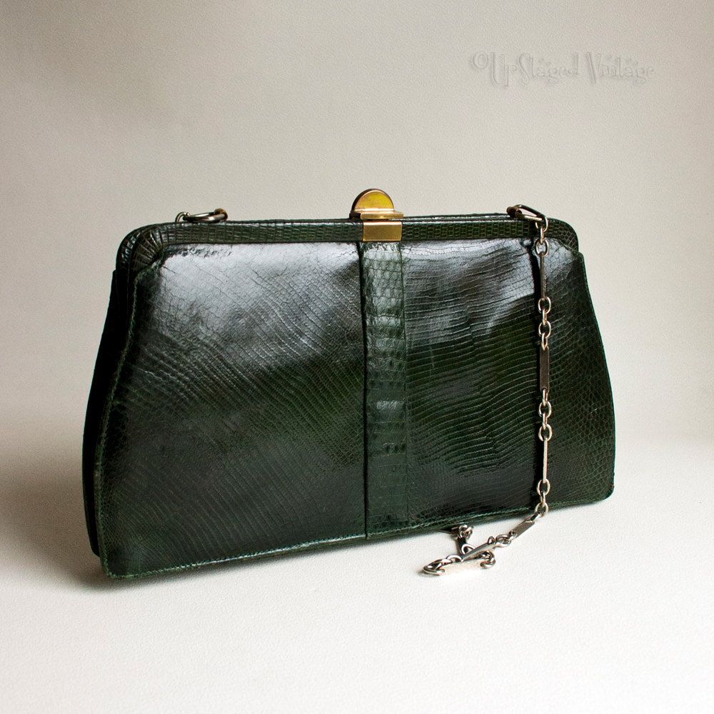 True Vintage Green Alligator Croc Skin Mappin Amp Webb