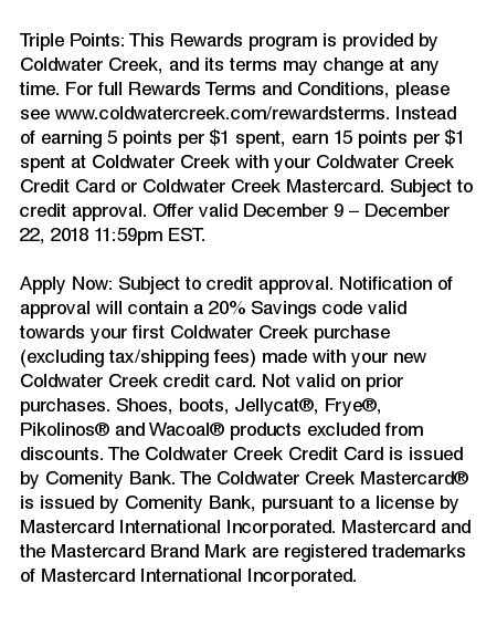 Coldwater Creek Mastercard