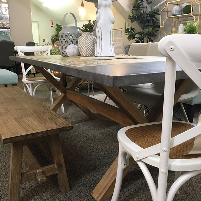 Our X Base Zinc Top Table Looks Even Better Paired With