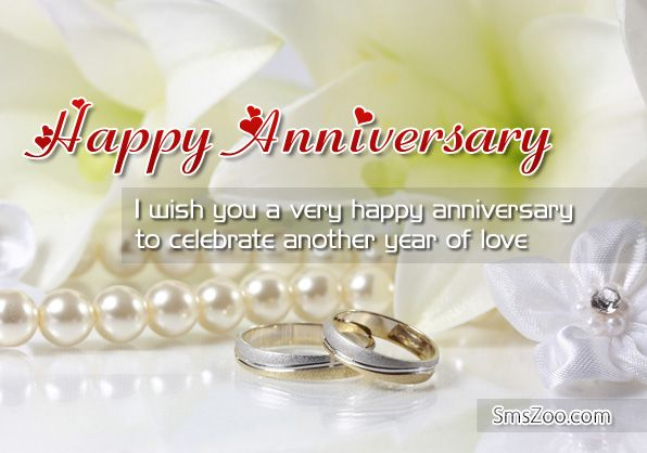 Wedding anniversary wishes to a couple with picture
