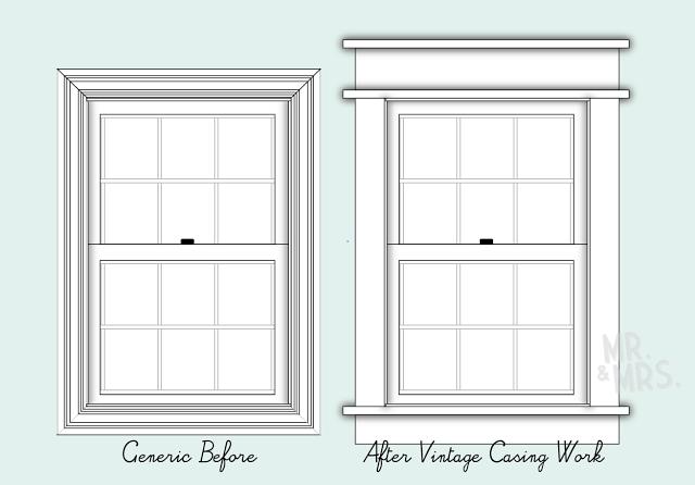 Diy craftsman style window trim window trim pinterest craftsman summer and style for Exterior window trim craftsman style