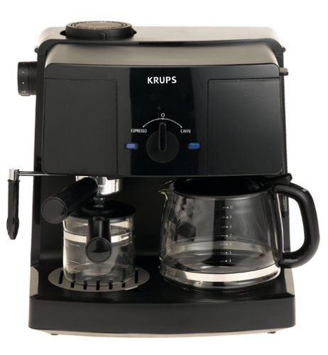 Krups Xp1500 Coffee Maker And Espresso Machine Combination Black By Krups 86 59 Combination Un Coffee And Espresso Maker Coffee Making Machine Coffee Maker