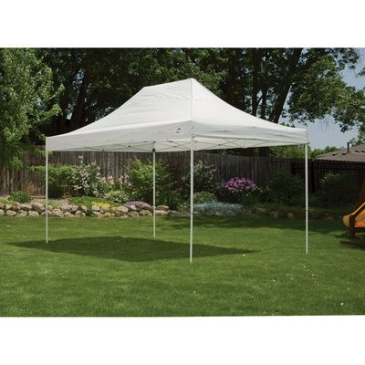 White Color (Model #22599) - Double truss top design10 x 15 Straight Leg Pop Up Canopy. Pro Series 10' x 15' gives 150 sq. feet of coverage. Shop now!