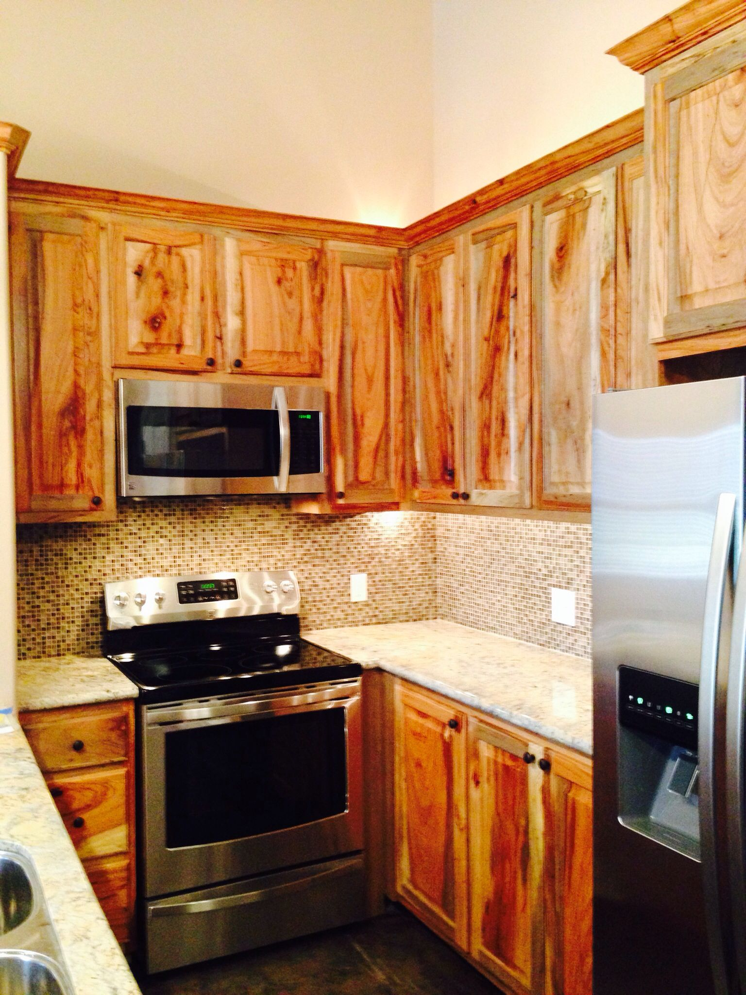 Pecan Wood Cabinets For The Home In 2019 Kitchen Cabinets Wood Cabinets Kitchen