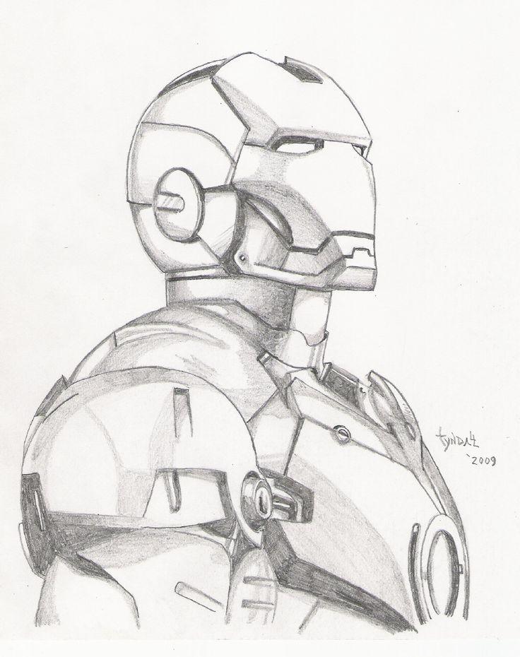 Photo of Iron Man sketch by TyndallsQuest on DeviantArt