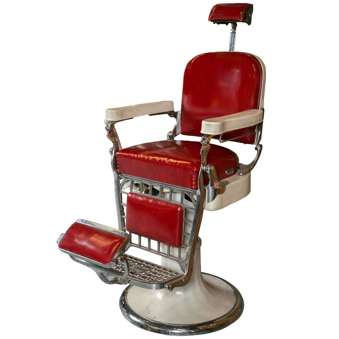 Antique Emil J Paidar Barber Chair at 1stdibs  SALONS