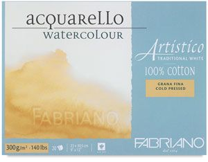 Fabriano Artistico Traditional White Watercolor Pad Blick Art