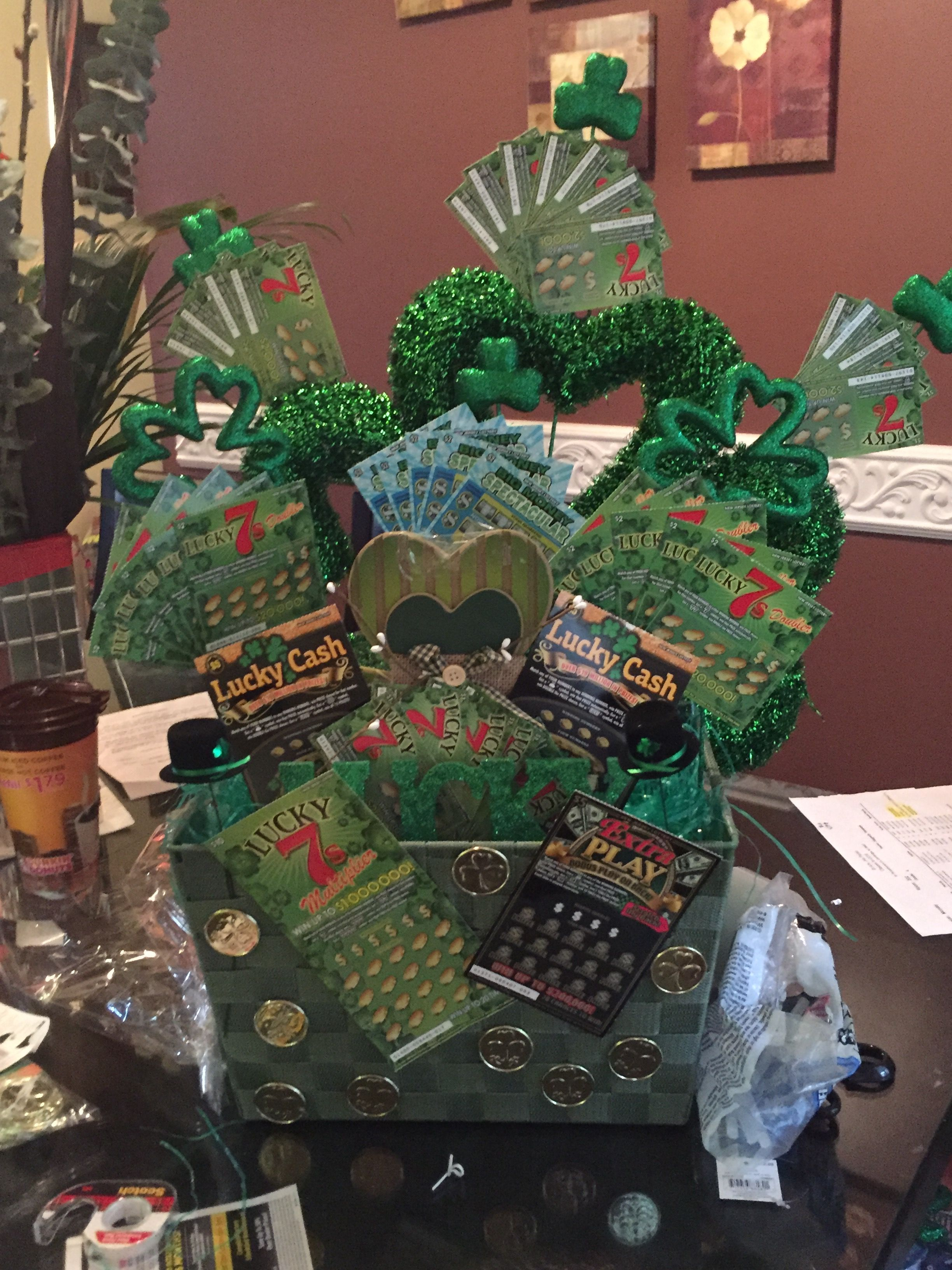 St Patricks Day Basket Good Raffle For A Silent Auction