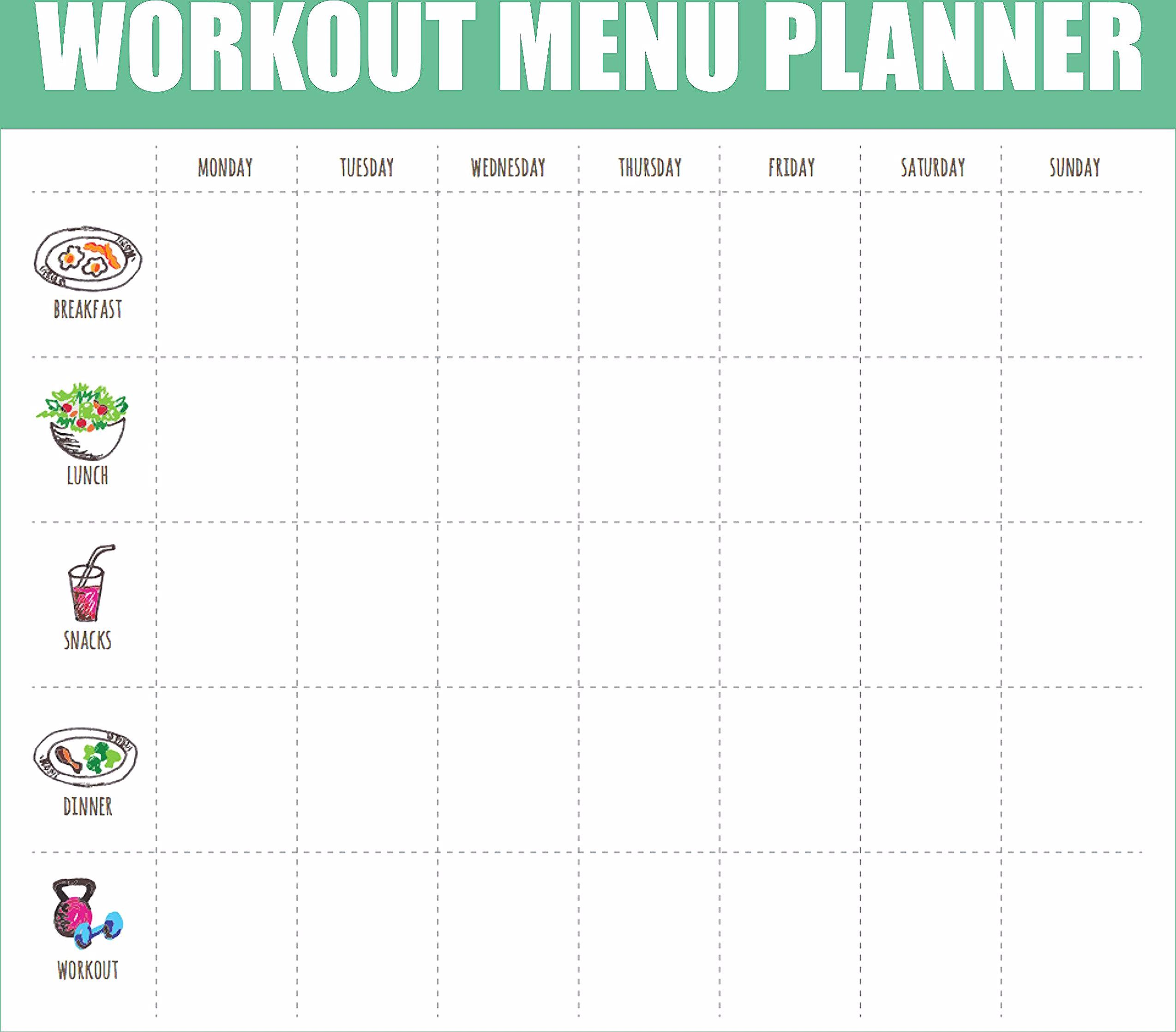 Meal Planner Printable | Workout Fitness Menu Planner + Grocery list, Fitness, W... - #Fitness #Groc...