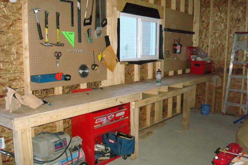 Diy garage workbench ideas excellent diy garage workbench for Design your own garage workshop