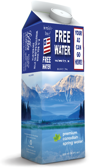 america first brand of free bottled water