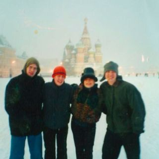 Red Square with my cousins
