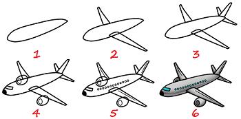 Comment dessiner un avion tape par tape recherche google projets essayer - Dessin d un avion ...