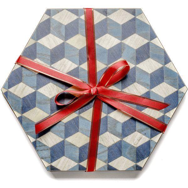 Genial 4 Blue Placemats Hexagon Place Mats Dark Blue Tablemats Modern... (u20ac35
